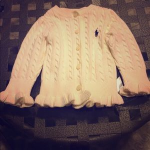🎀🌸 Ralph Lauren Polo baby girl cardigan